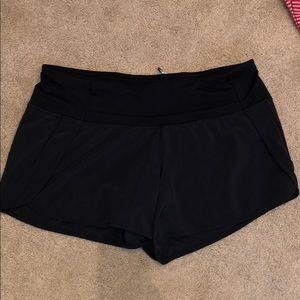 Black Lululemon Run Times Short Size 8
